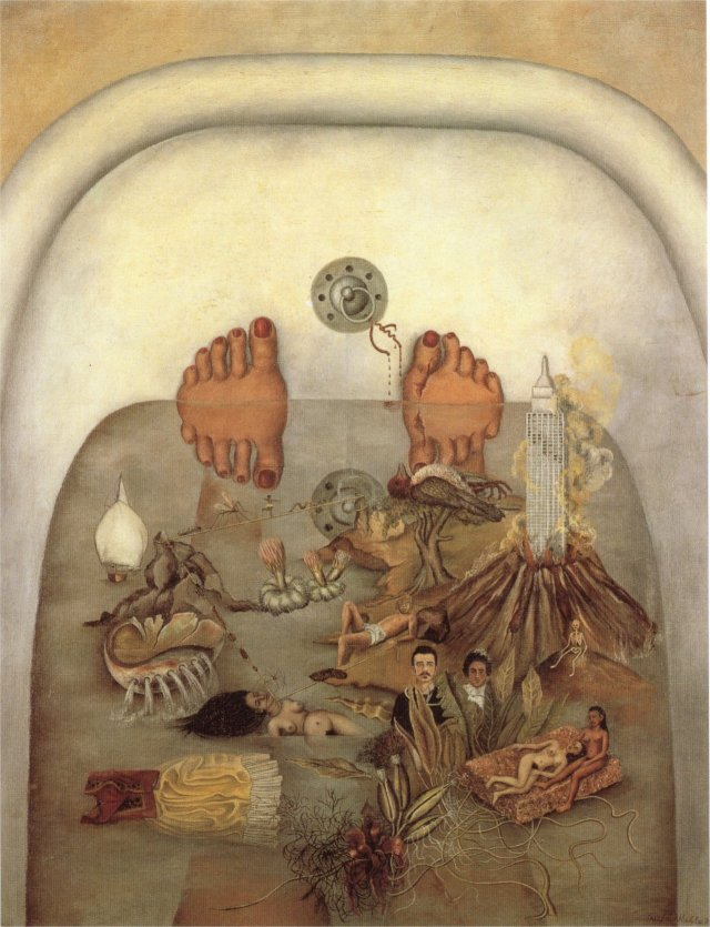 What the Water Gave Me---Frida Kahlo, 1938. Oil on canvas.